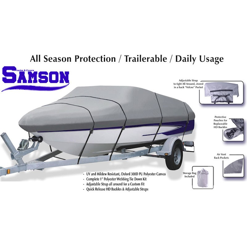 Trail-able Speedboat 5.4M to 6.0M 18'-20' Autotecnica Boat Cover