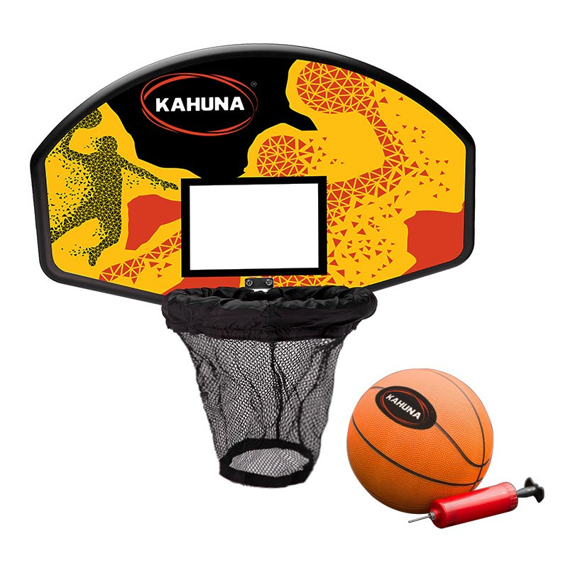 New Kahuna Trampoline Basketball Hoop Ring Backboard Pump