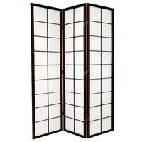 3 Panel Room Divider Privacy Screen Brown Zen 132cm
