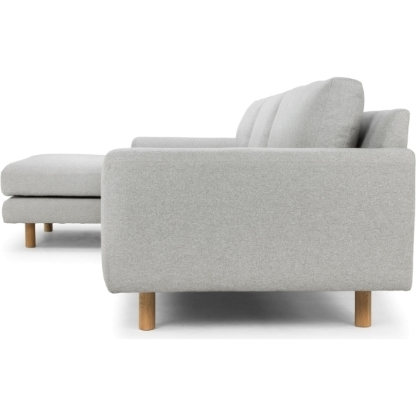 Sonia 3 seater sofa left chaise in stone grey buy sofas for 3 seater couch with chaise