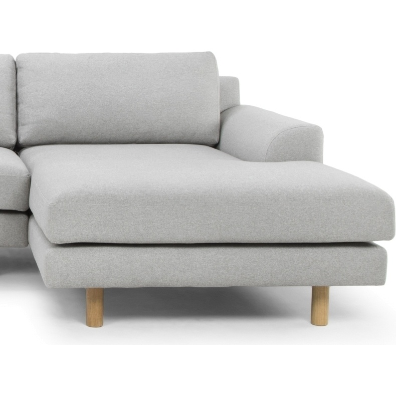 Sonia 3 seater sofa w right chaise in stone grey buy sofas for 3 seater couch with chaise