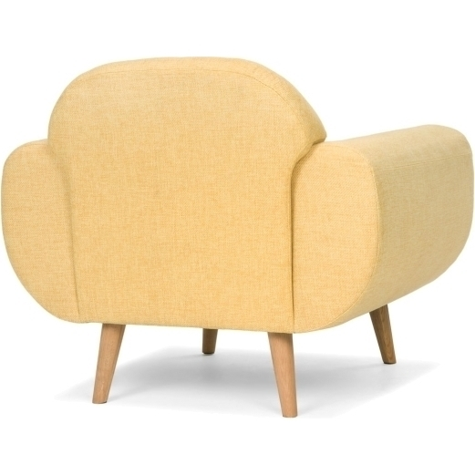Petra Retro Fabric Upholstered Armchair In Mustard Buy
