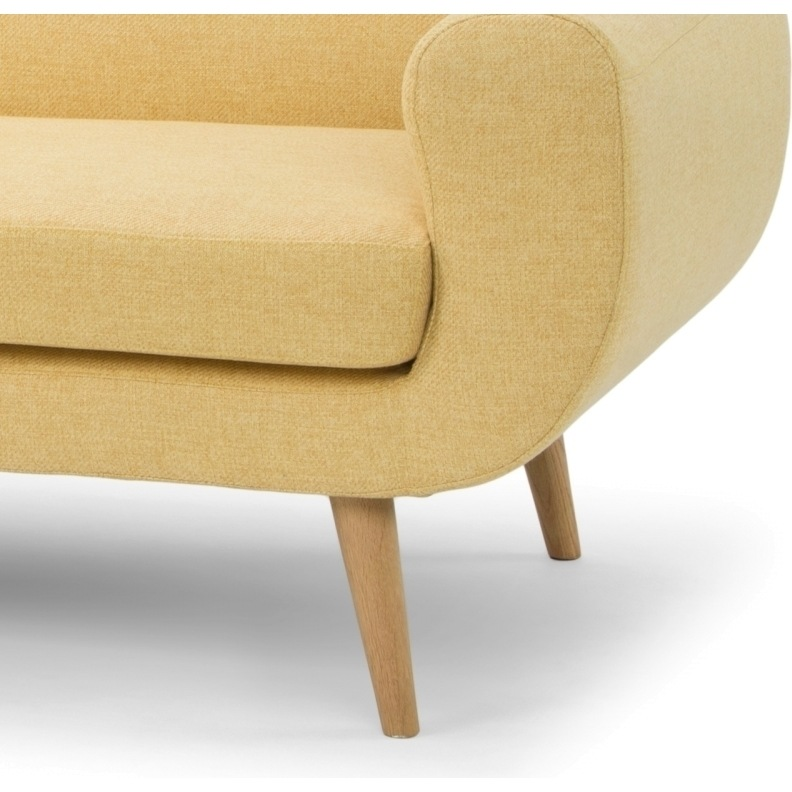 Dreipunkt Designer Leather Sofa Mustard Yellow Two Seat: Petra 3 Seater Fabric Sofa Couch In Mustard Yellow
