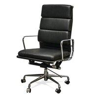 Eames Replica Black Soft Pad Executive Office Chair