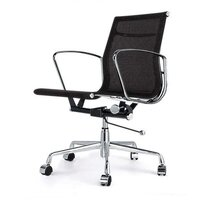 Black Management Mesh Office Chair - Eames Replica