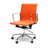 Replica Eames PU Leather Office Chair in Orange
