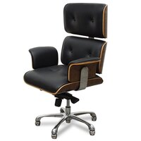 Eames Replica Black Leather Executive Office Chair