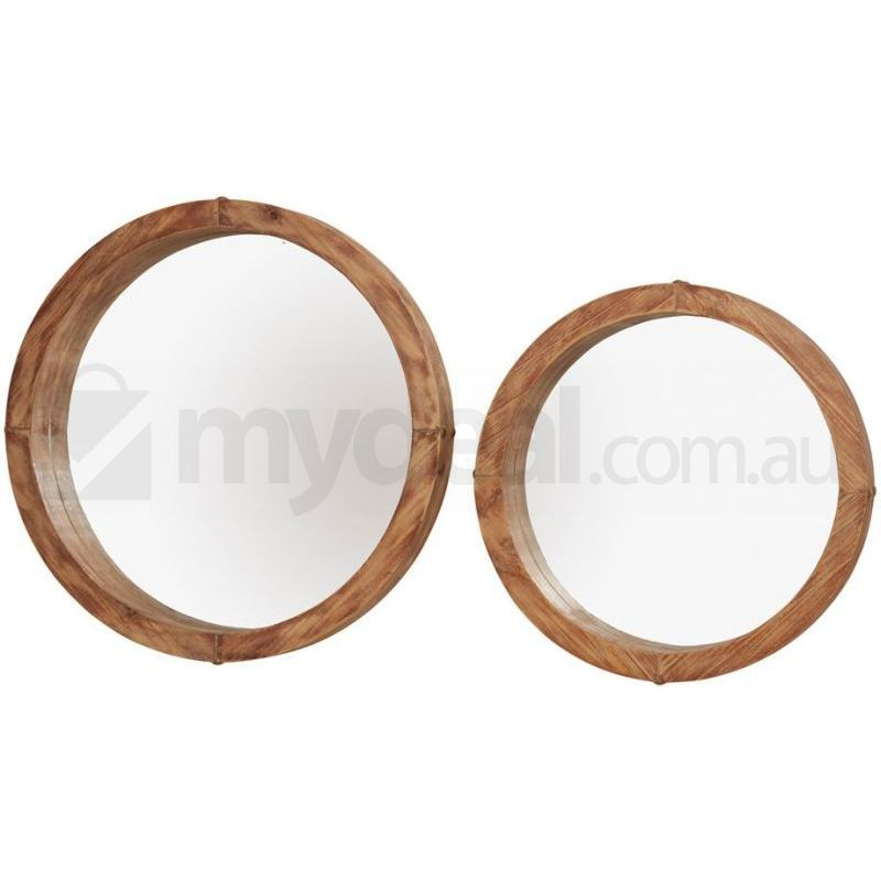 Harlow Natural Timber Round Mirror Classic Set Of 2 Buy