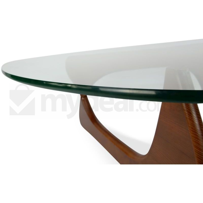 Walnut glass top isamu noguchi replica coffee table buy coffee tables Noguchi replica coffee table