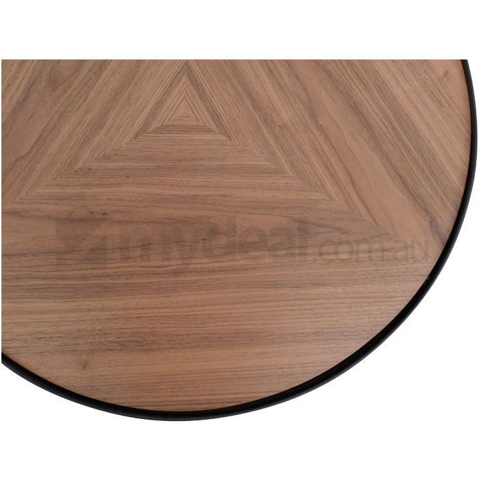 Luna Black Wooden Round Coffee Table 30cm Small