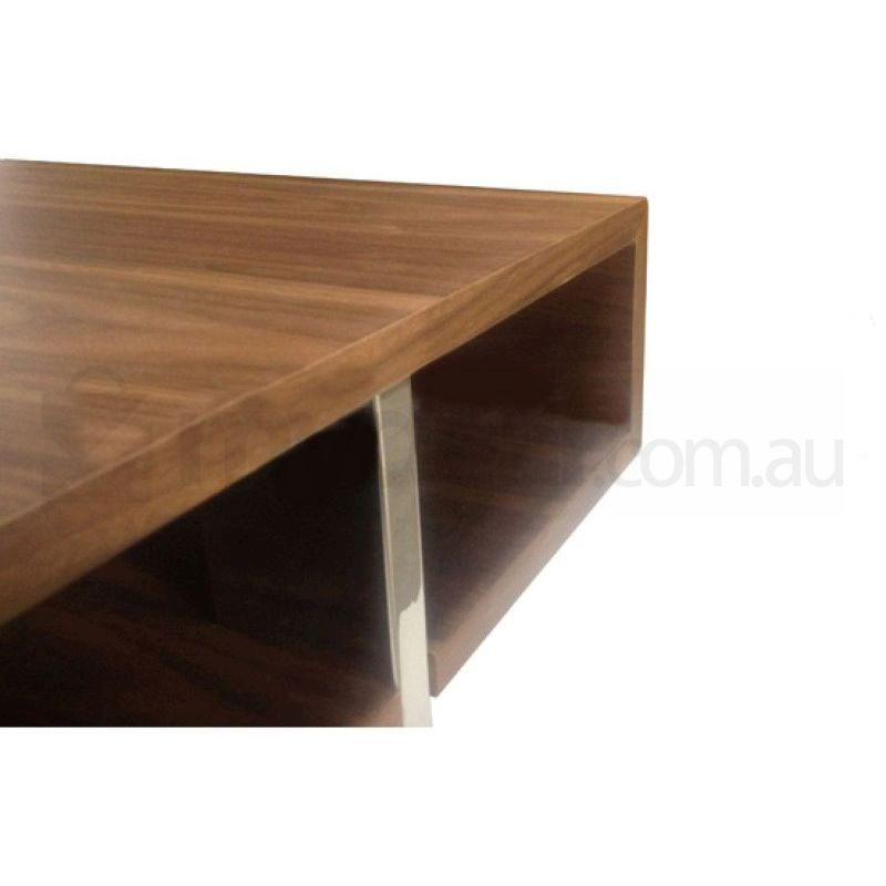 rio mdf wood open centre coffee table in walnut buy. Black Bedroom Furniture Sets. Home Design Ideas