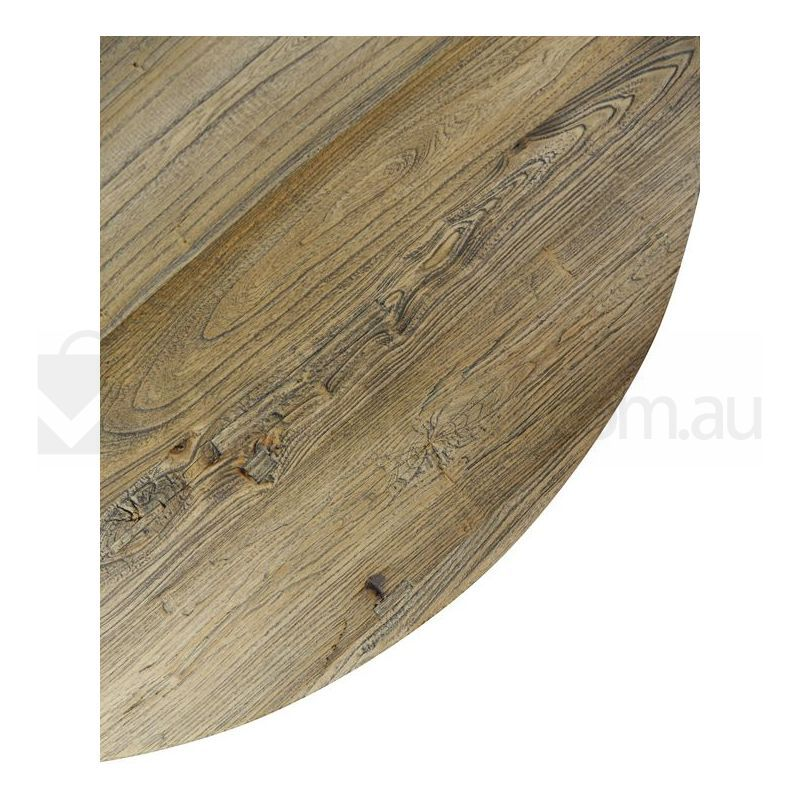 arthur reclaimed timber vintage round coffee table | buy sale