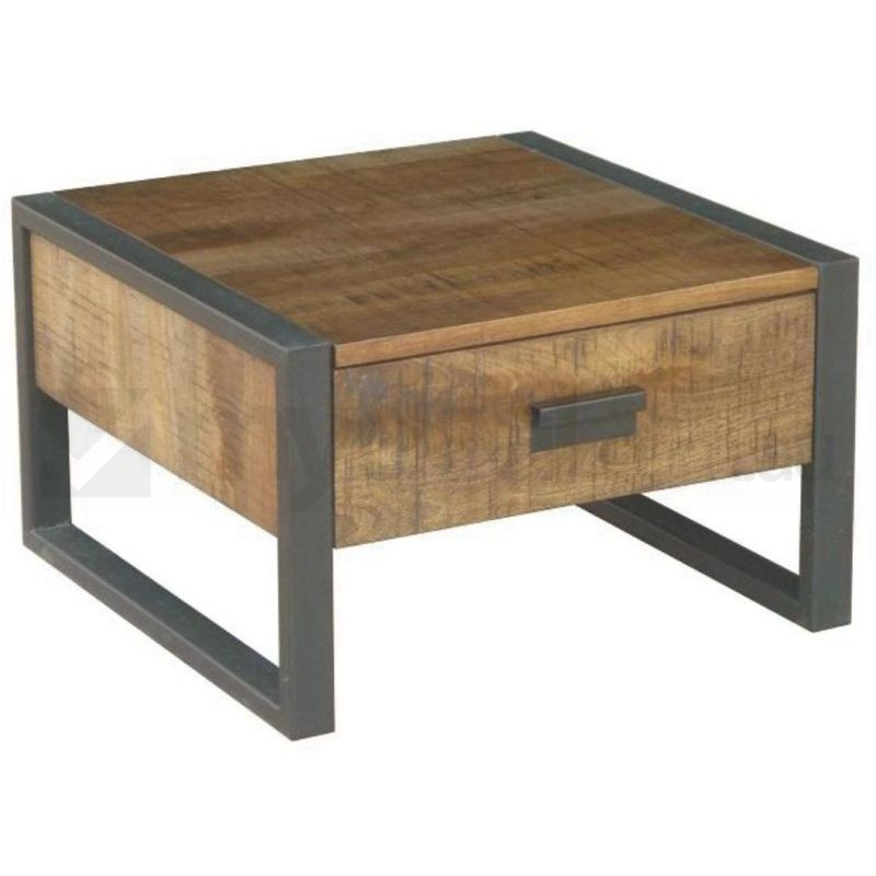 Omaha Mango Wood And Metal Lamp Side Table Buy Side