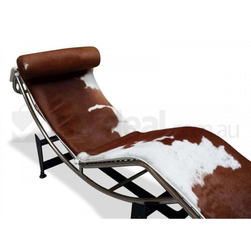 Brown Cowhide Chaise Lounge Le Corbusier Replica Buy