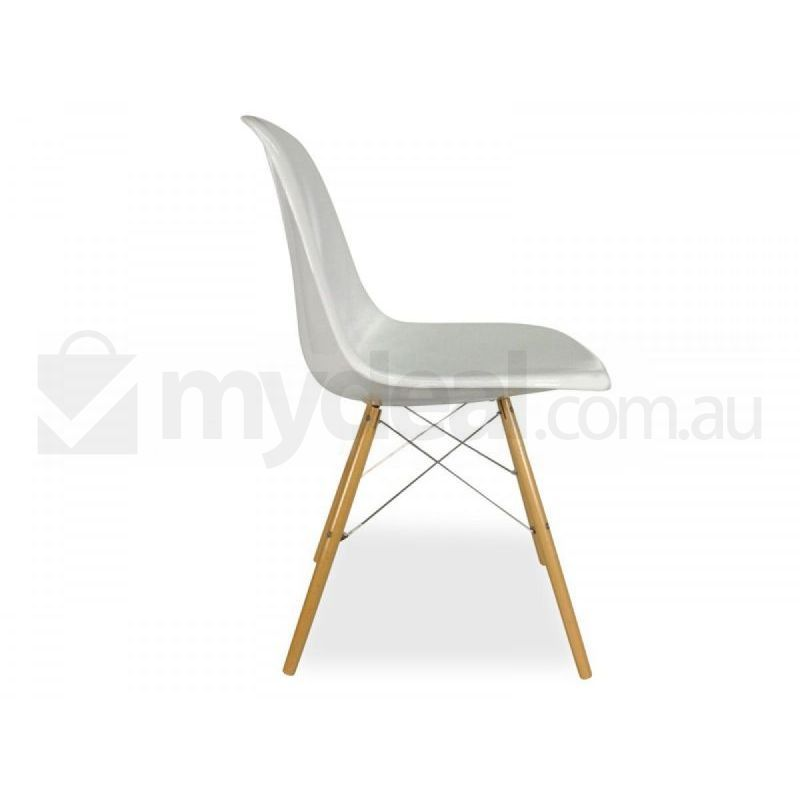 eames replica fibreglass dsw side chair in white buy eames dining chairs. Black Bedroom Furniture Sets. Home Design Ideas
