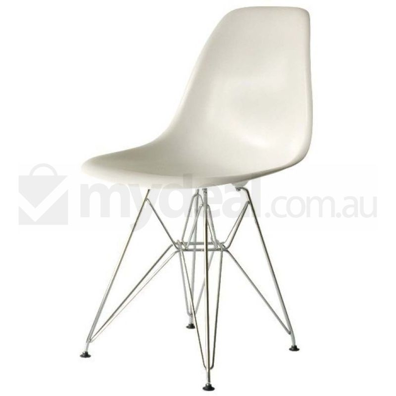 6x eames replica eiffel dsr dining chairs in white buy sets of 6 - Eames eiffel chair replica ...