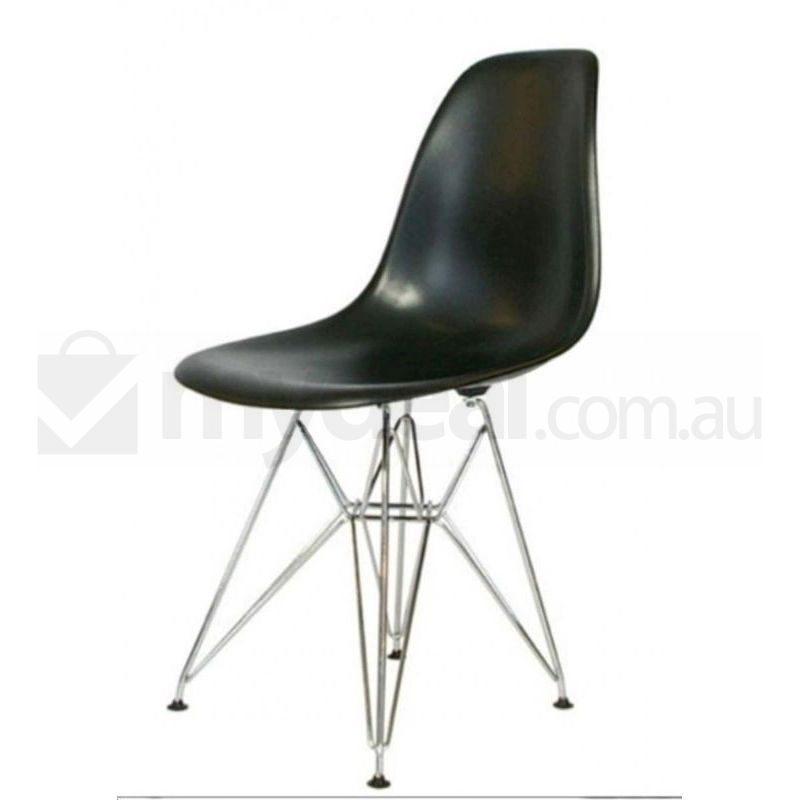 Black eiffel dsr dining chair x 6 eames replica buy sets of 6 - Eames eiffel chair replica ...