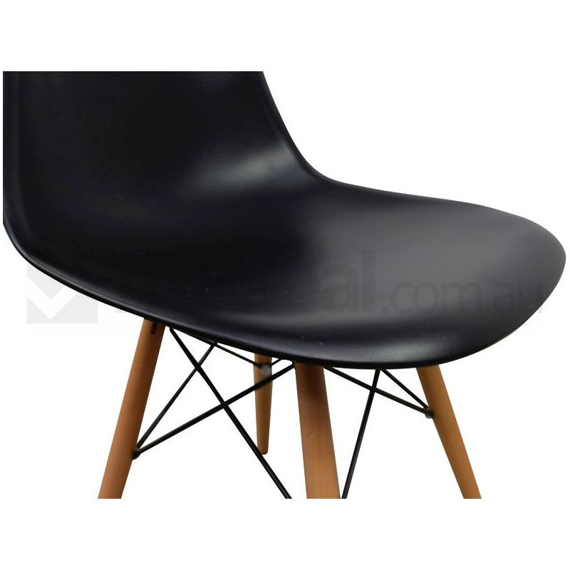 Black dsw eames replica dining side chair set of 6 buy for Eames side chair replica