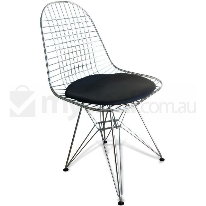 Eames Replica DKR Chrome Wire Dining Chair Black Buy