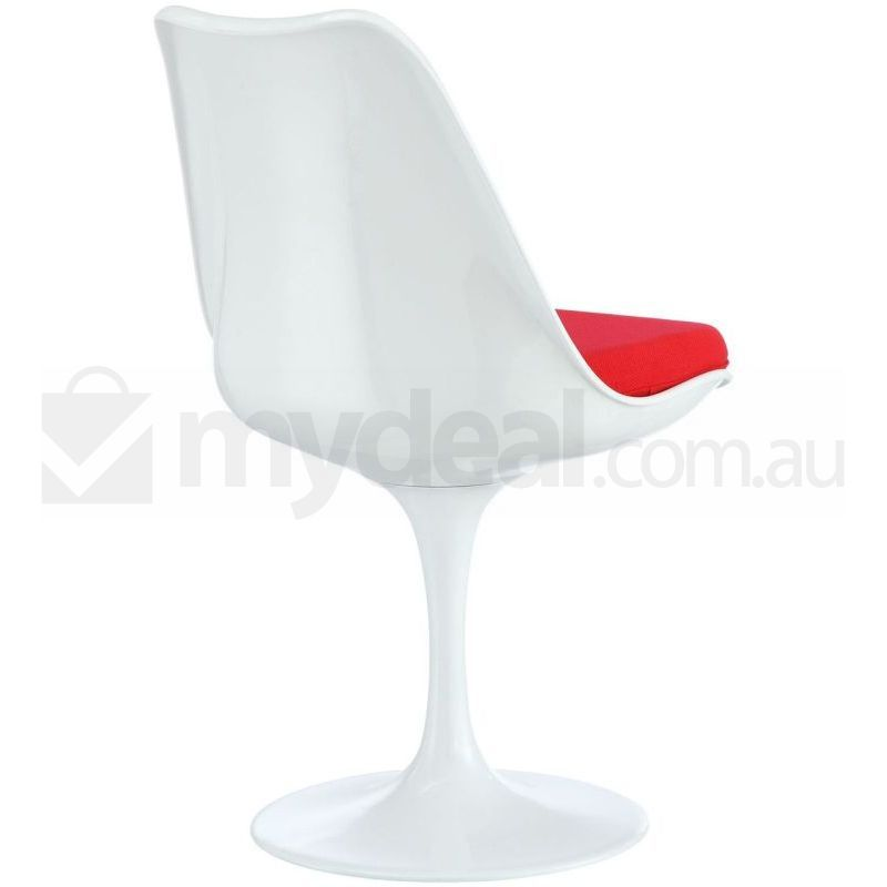 Eero saarinen replica tulip dining chair in red buy dining chairs - Replica tulip chair ...