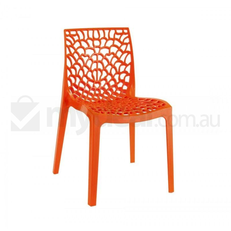 Gruvyer Orange Stackable Indoor and Outdoor Chair