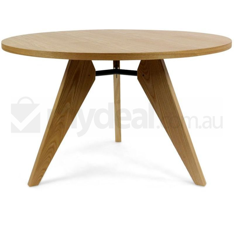 Jean Prouve Replica Gueridon Round Dining Table