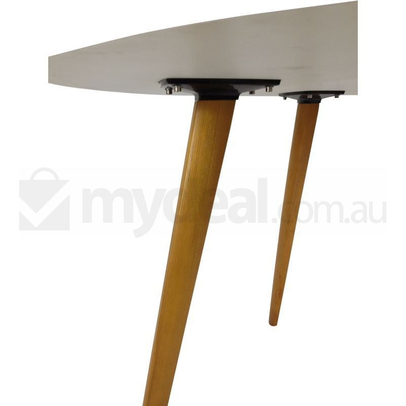 Where To Buy Dining Tables: White Halo Round Dining Table Walnut Legs Replica