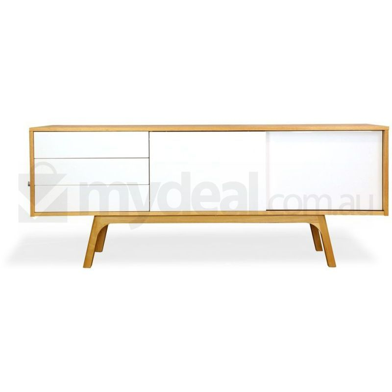 Hendrix Scandinavian Sideboard Buffet Unit Natural Buy