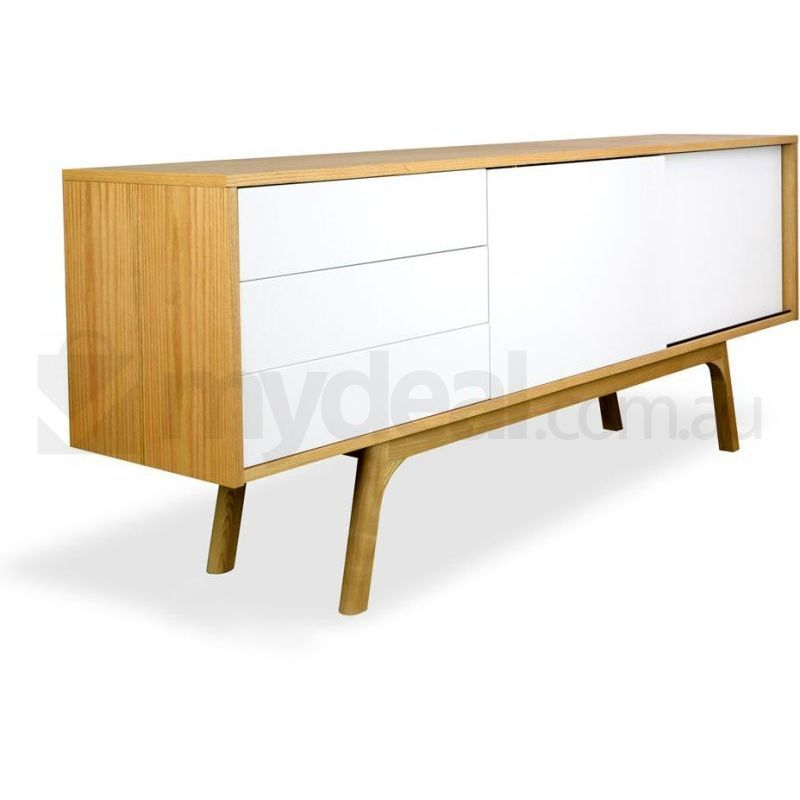 Hendrix scandinavian sideboard buffet unit natural buy for Sideboard scandi
