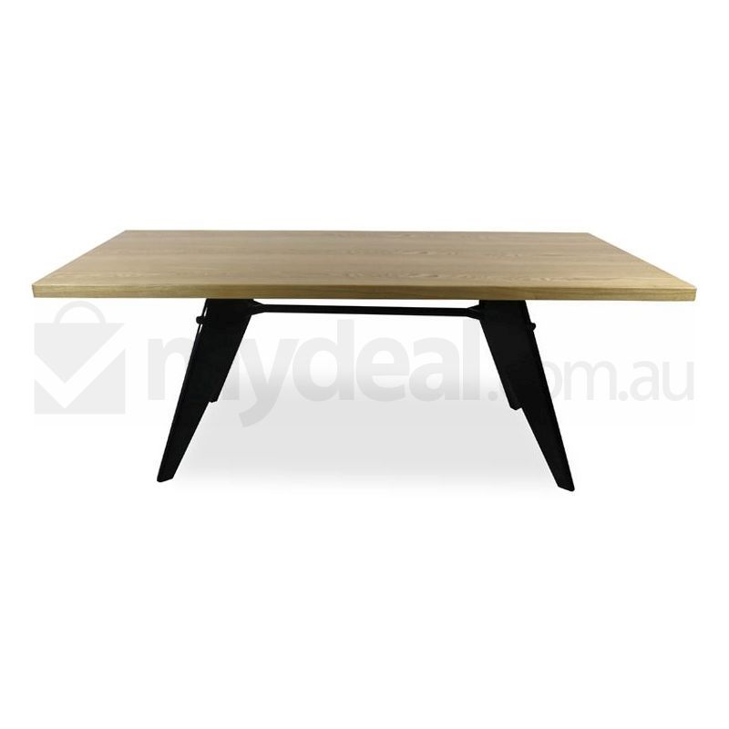 jean prouve replica em wooden dining table natural buy dining tables 175873. Black Bedroom Furniture Sets. Home Design Ideas