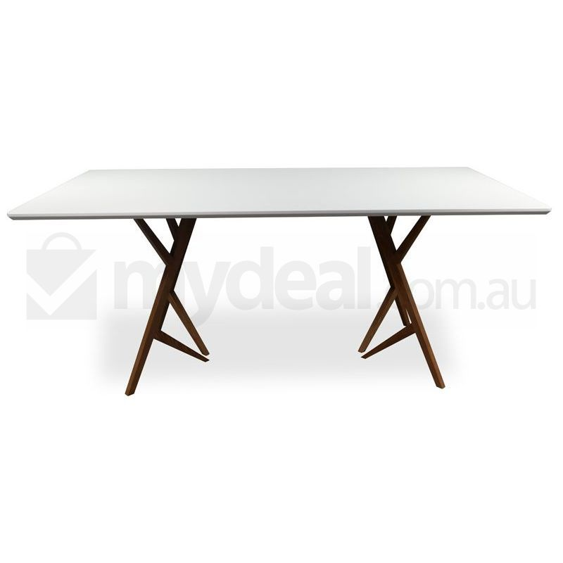 Devan Modern Dining Table in White Top amp Wood Frame Buy  : DT6100001 from www.mydeal.com.au size 800 x 800 jpeg 37kB