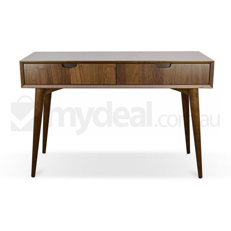 Johansen walnut console table with drawers buy console tables - Used console table for sale ...
