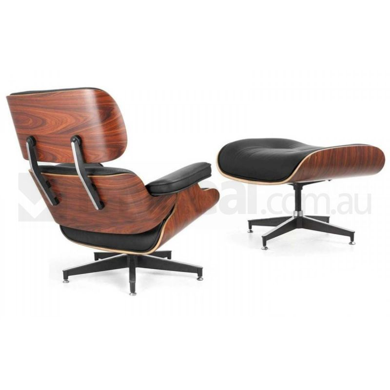 Eames Replica Leather Lounge Chair Amp Ottoman Black Buy