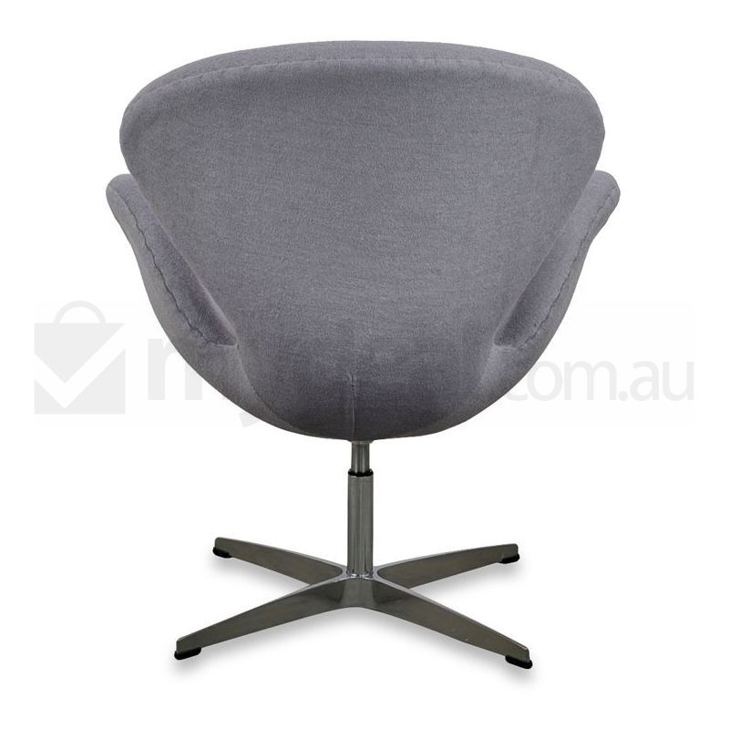 Arne jacobsen replica grey wool swivel swan chair buy for Jacobsen replica