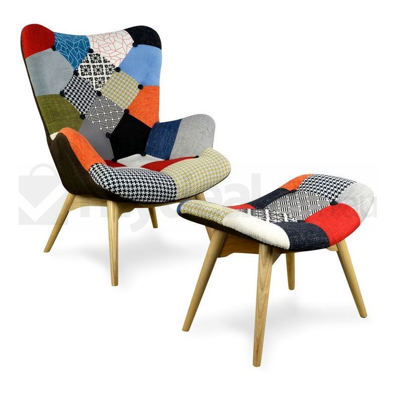 Replica Grant Featherston Chair Ottoman Patchwork Buy