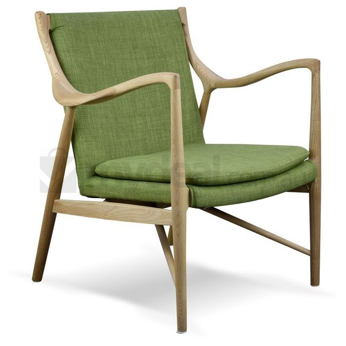 Replica Finn Juhl 45 Ash Wood Chair W Green Fabric Buy