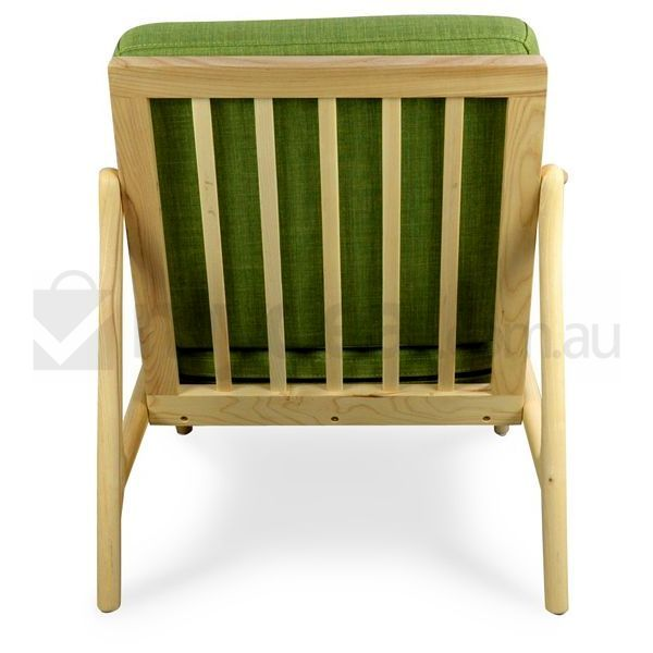Alfred Wooden Arm Chair With Green Fabric Buy Armchairs