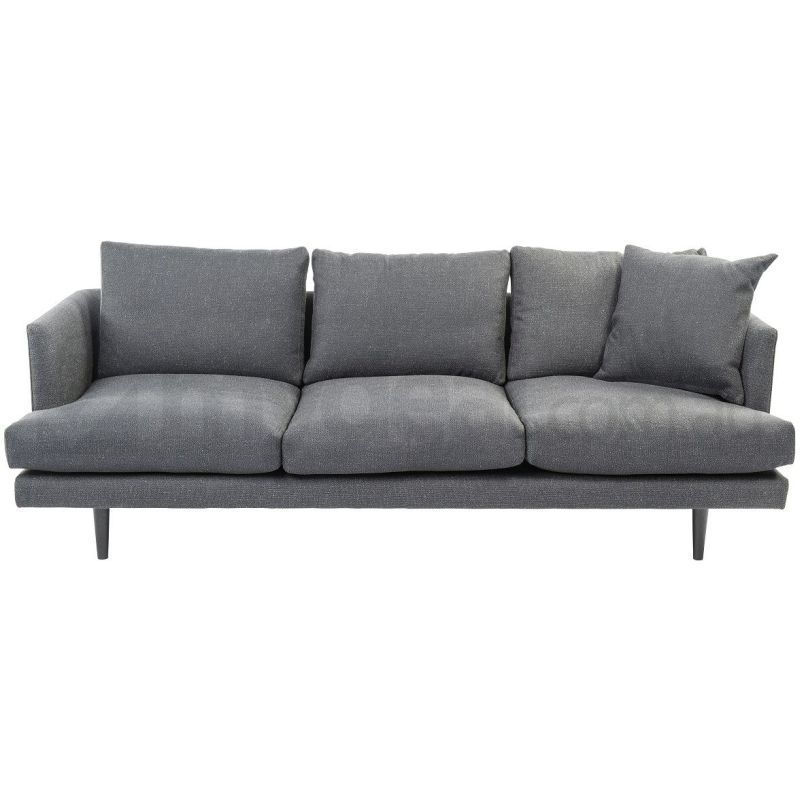 addison charcoal neutral fabric sofa 3 seat modern buy sofas