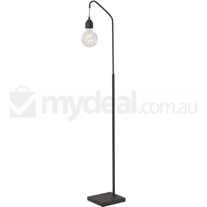 Nero scandinavian slim metal floor lamp black 156cm buy for Nero 5 light floor lamp