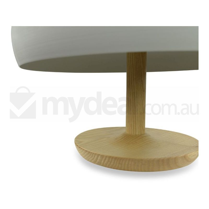 ares bulb white glass table lamp with wooden base buy table lamps. Black Bedroom Furniture Sets. Home Design Ideas