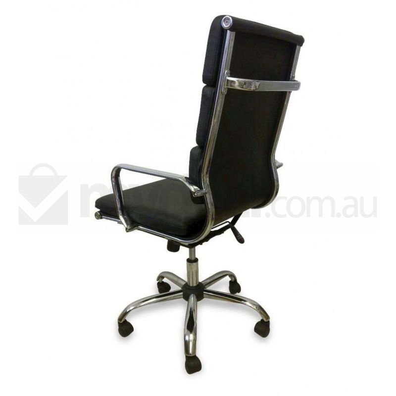 Eames Replica Leather Executive Office Chair Black Buy Boardroom Chairs