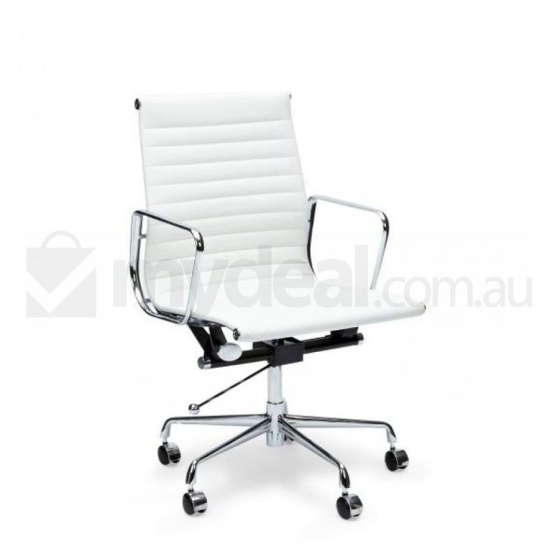 Eames Replica White Leather Swivel Office Chair Buy Boardroom Chairs