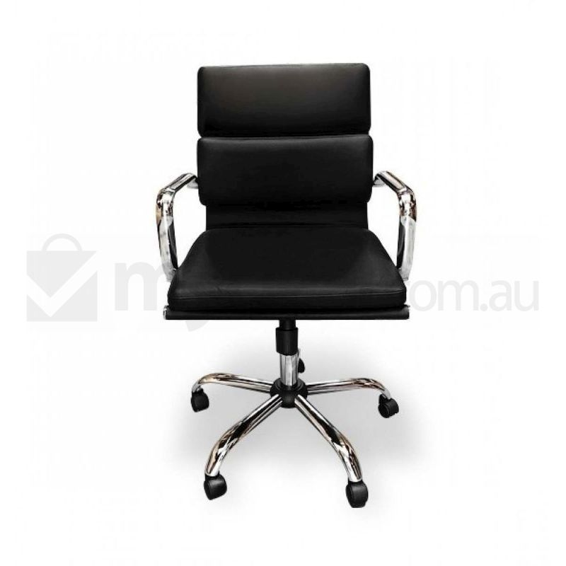 leather replica eames swivel office chair in black buy board
