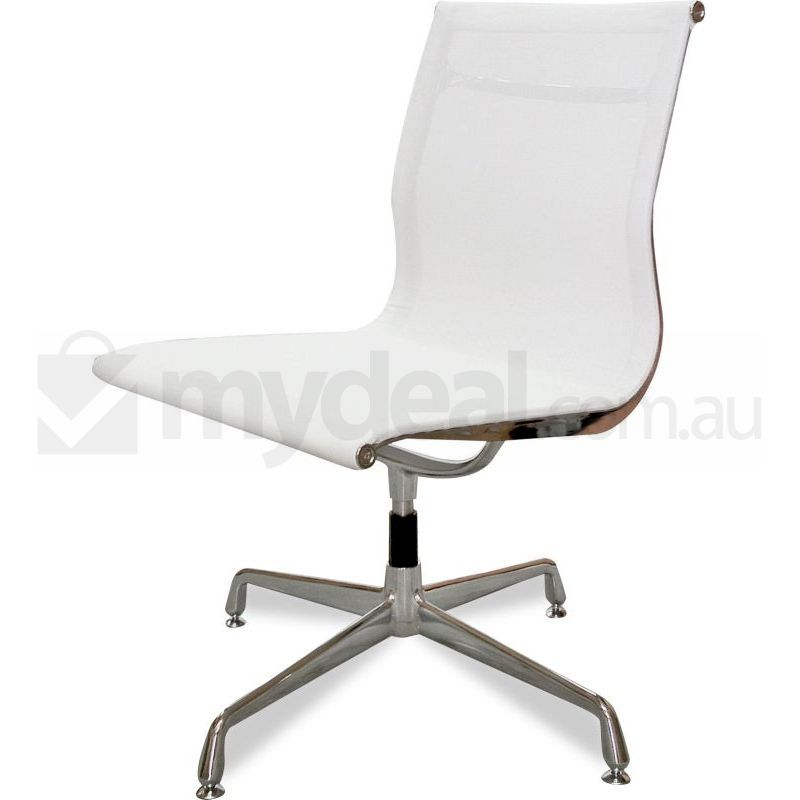 eames reproduction office chair. No Arms White Mesh Office Chair - Eames Replica Reproduction