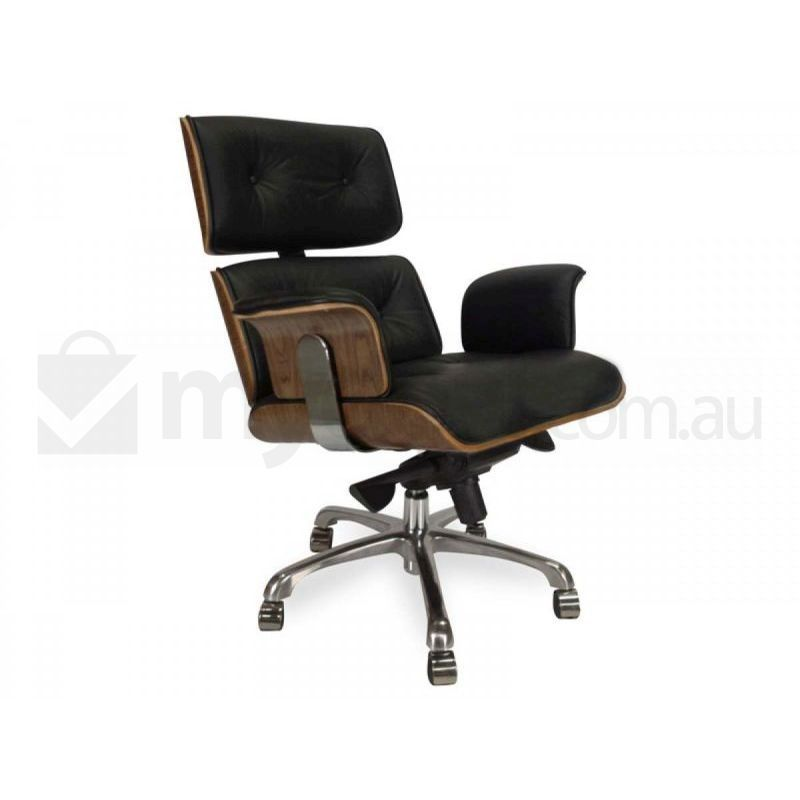 Eames Replica Leather Veneer Executive Office Chair