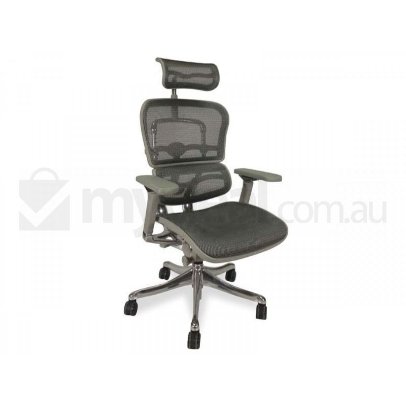 ergohuman grey mesh office chair v2 with high back buy office chairs
