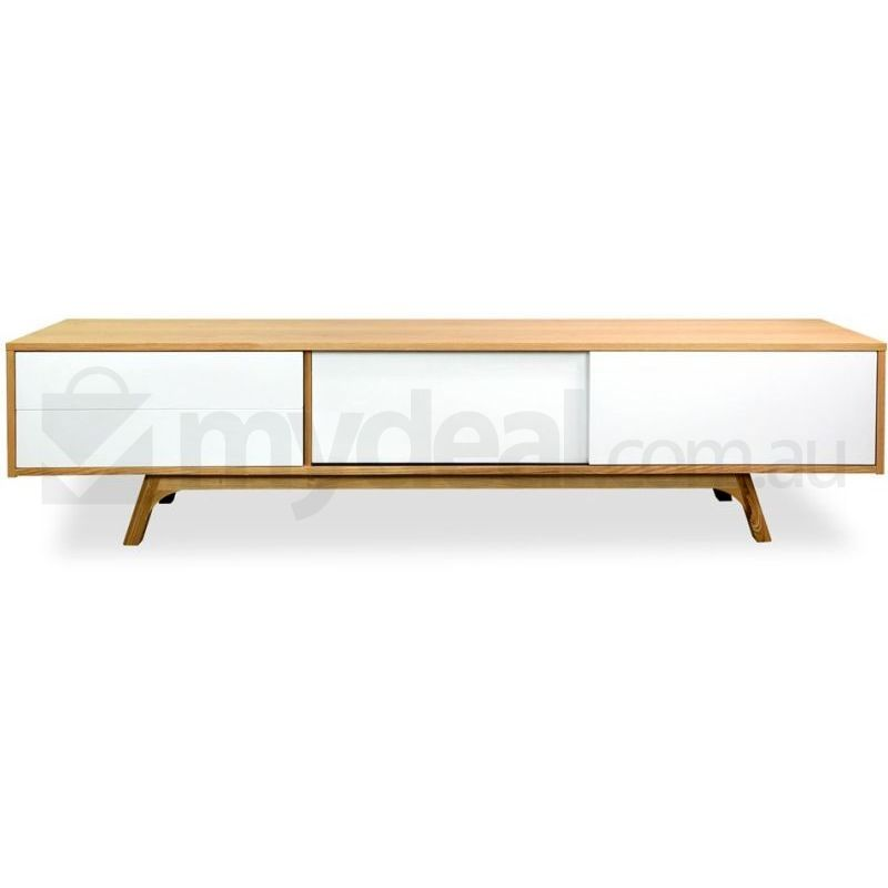 Hendrix 2 1m Retro Entertainment Tv Unit In Natural Buy