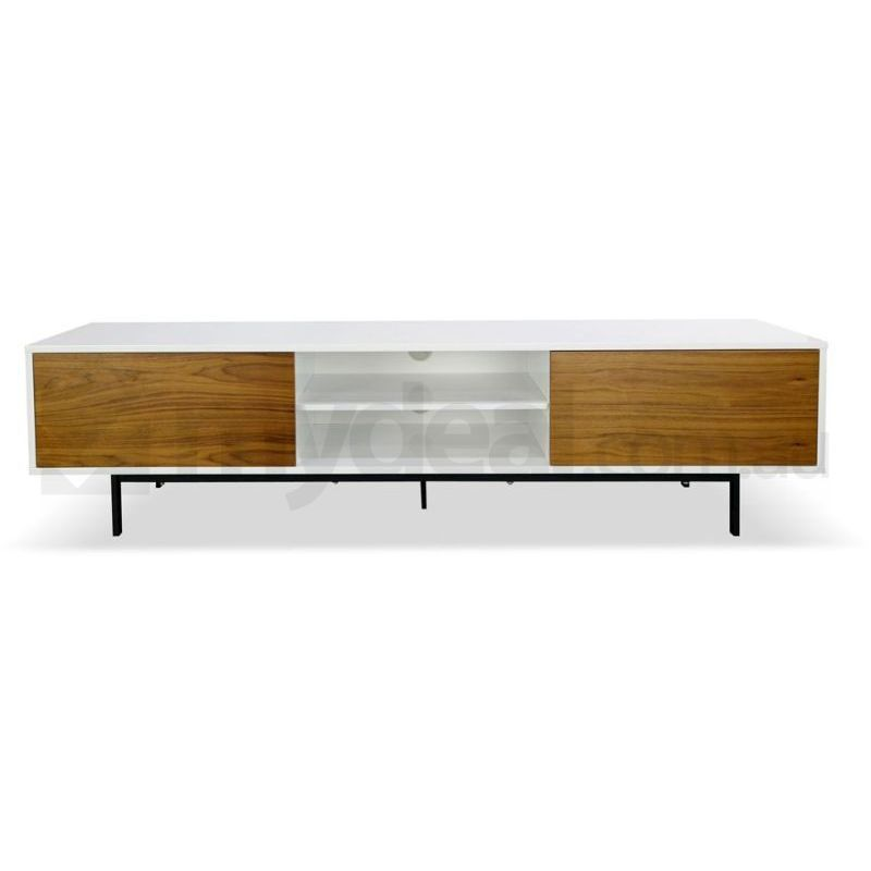 Blake Lowline Tv Cabinet Entertainment Unit Walnut Buy White Tv Units