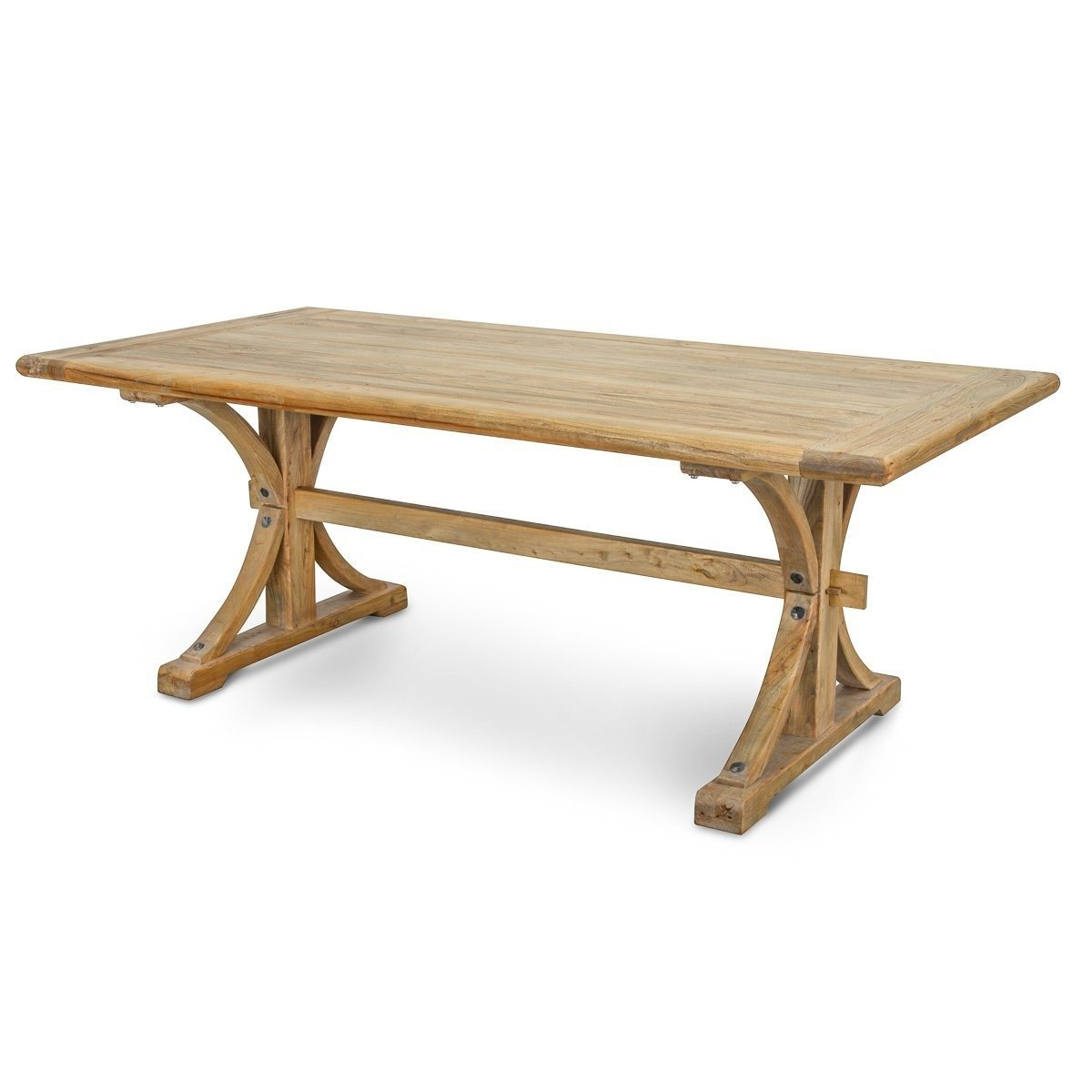 6a3d6b847f73 MARCUS RECLAIMED ELM WOOD DINING TABLE 1.98M - NATURAL | Buy Dining ...