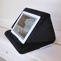 Soft Black Velvet Fur Tablet & iPad Cushion